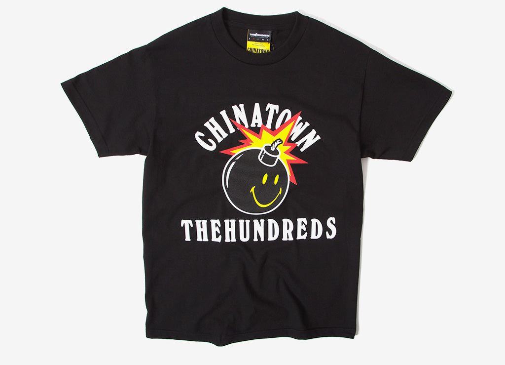 The Hundreds x Chinatown Market Happy Adam T Shirt - Black