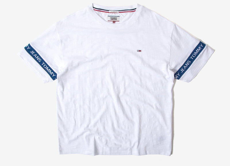 Tommy Jeans Arm Band T Shirt - Classic White