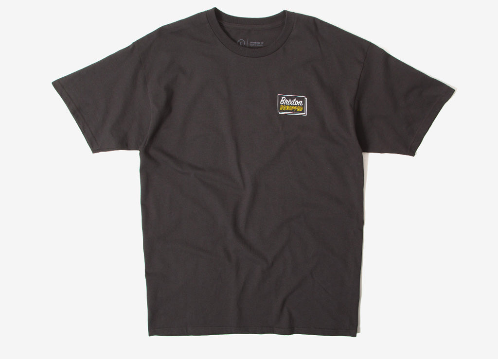 Brixton Equipped T Shirt - Washed Black