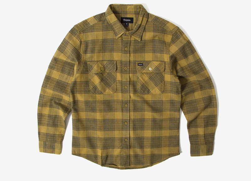 Brixton Bowery Flannel Shirt - Avocado