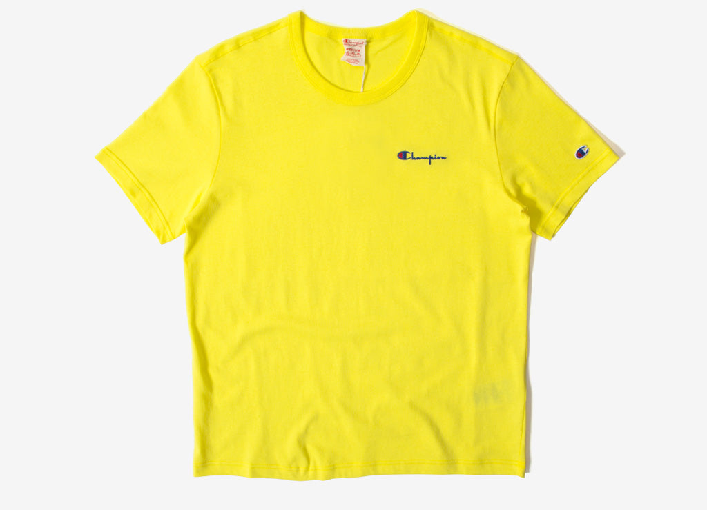 Champion Crewneck T Shirt , Yellow