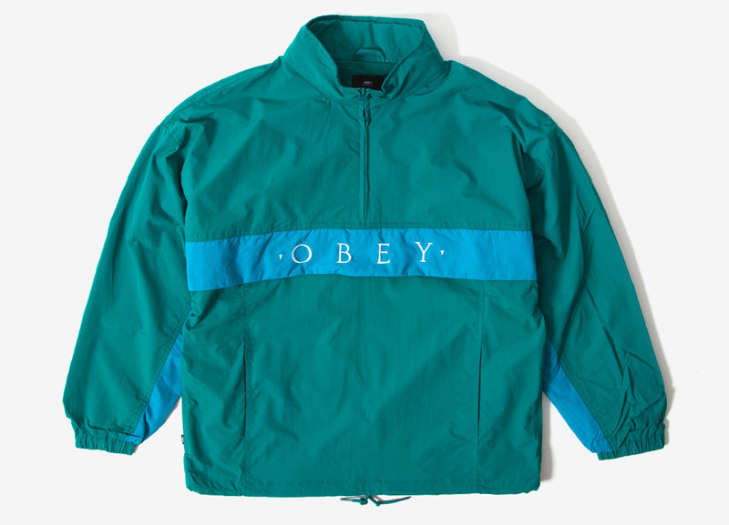 Obey Title Anorak Jacket - Blue Green