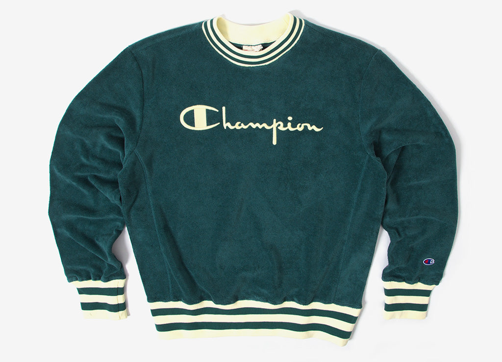 Champion Reverse Weave Vintage Terry Crewneck Sweatshirt - Green