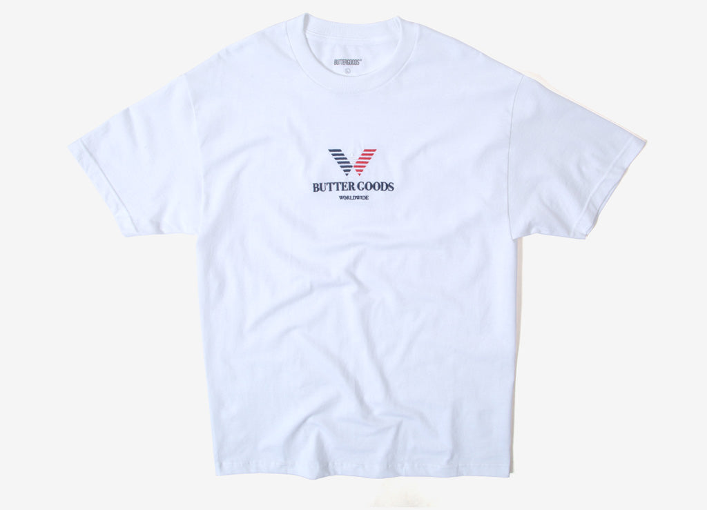 Butter Goods Emporio Embroidered T Shirt - White