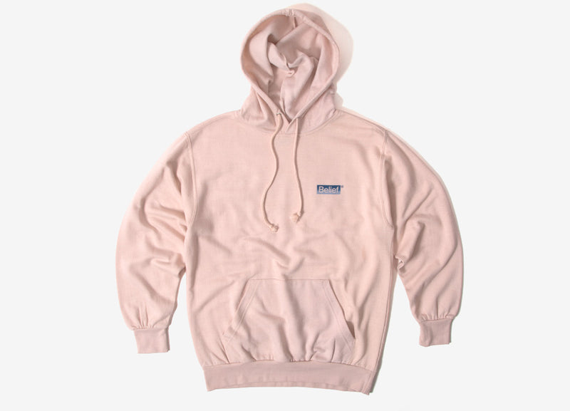Belief Box Logo Pullover Hoody - Dusty Pink