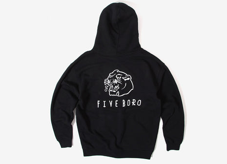 5Boro Panther Hood Pullover Hoody - Black