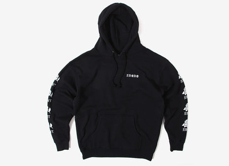 5Boro Rose Sleeve Pullover Hoody - Black