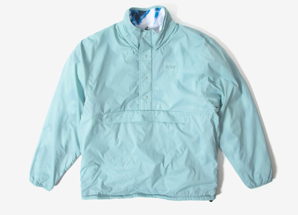 HUF Kumo Reversible 1/4 Zip Jacket - Cloud Blue
