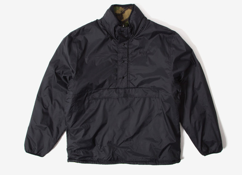 HUF Kumo Reversible 1/4 Zip Jacket - Black