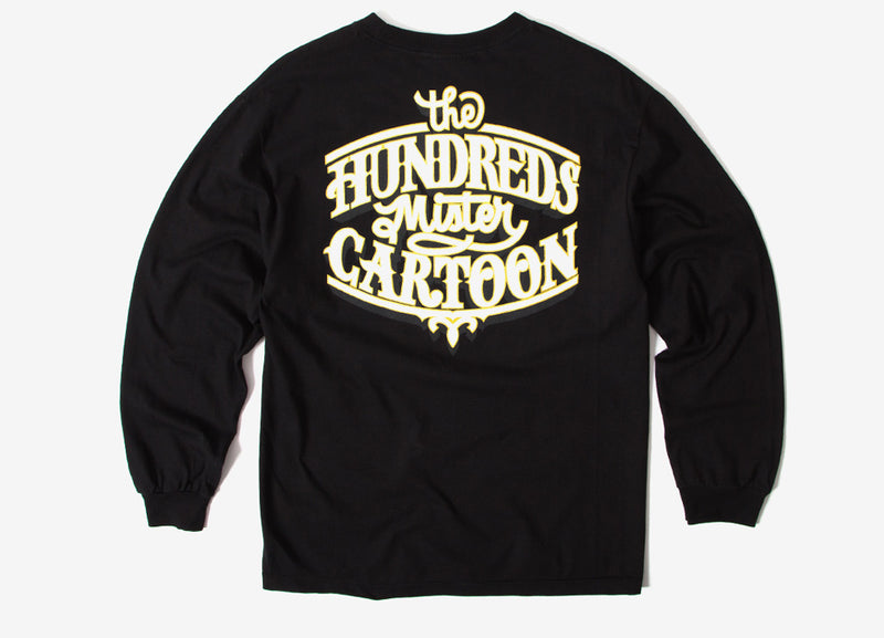 The Hundreds x Mister Cartoon Impala LS T Shirt - Black