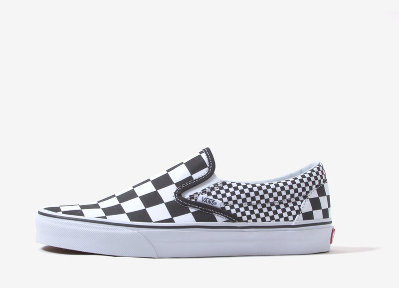 Vans Classic Slip-On 'Mix Checker' Shoes - Black/White