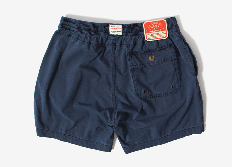 Deus Ex Machina Sandbar Solid Garment Dye Shorts - Mood Indigo