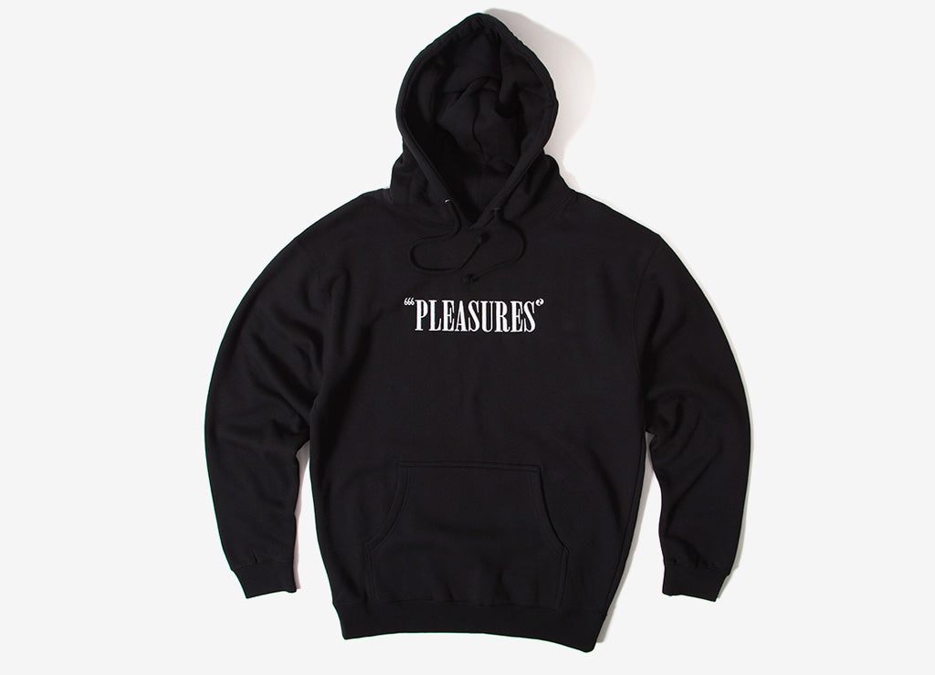 Pleasures Core Logo Pullover Hoody - Black