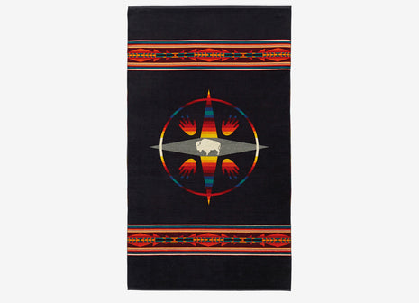 Pendleton Oversized Jacquard Beach Towel - Big Medicine Oxford