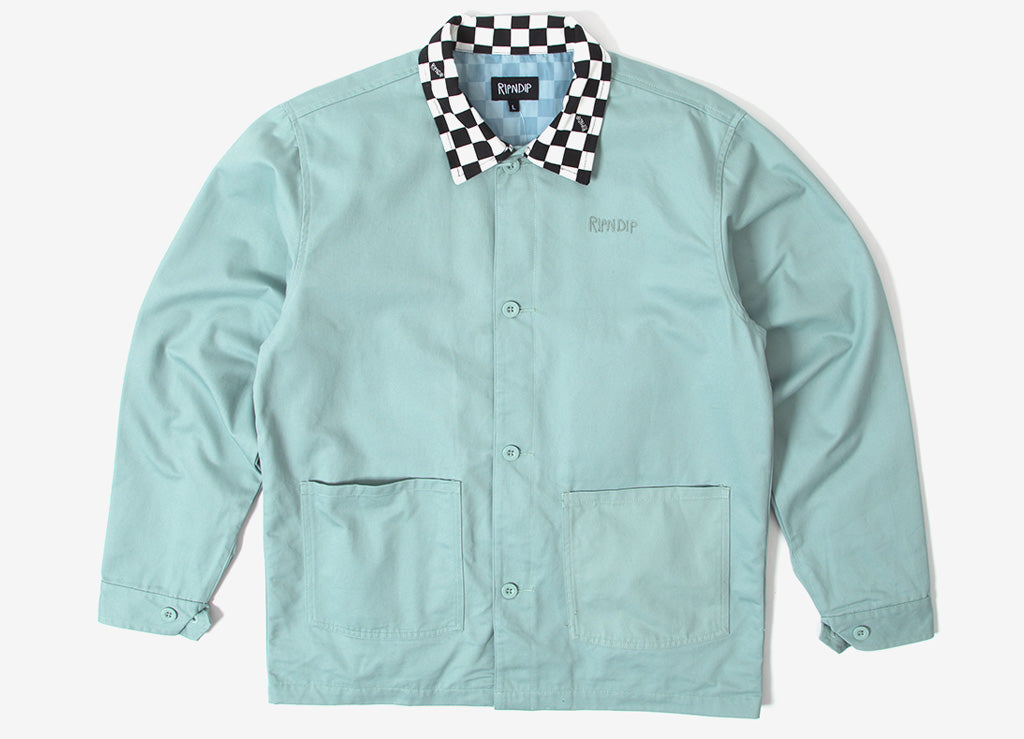 Rip N Dip Finish Line Twill Work Jacket - Teal