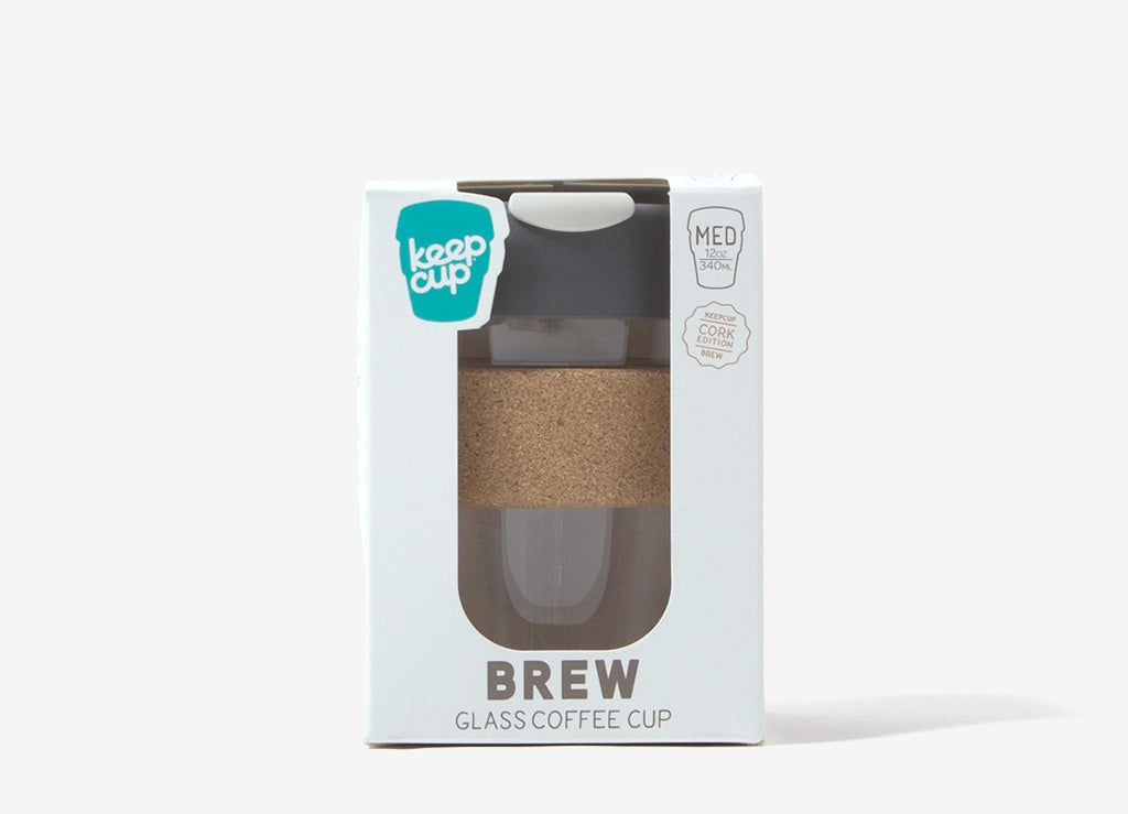KeepCup Cork Reusable Glass Coffee Cup - Press