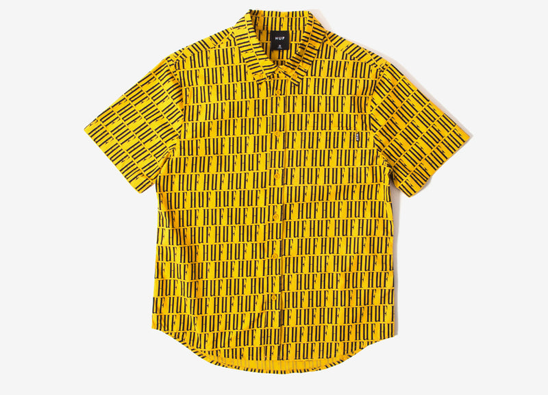 HUF Night Market S/S BU Shirt - Mineral Yellow