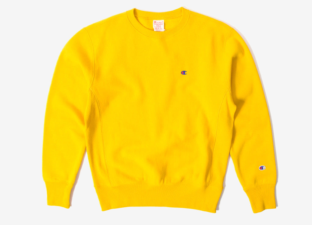 Champion Reverse Weave Sweatshirt - Yellow fe9dc8ae2de7