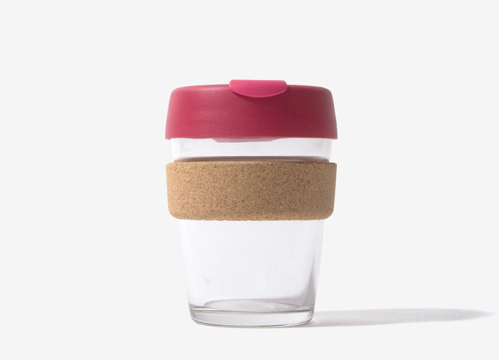 KeepCup Cork Reusable Glass Coffee Cup - Thermal