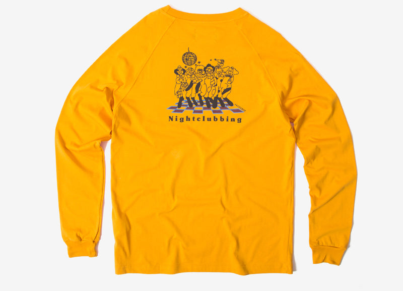 Pas de Mer Nightclubbing Long Sleeve T Shirt - Mustard