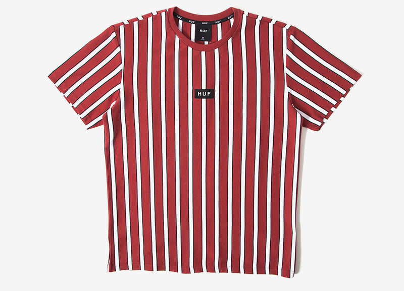 HUF Dexter Stripe Knit - Rosewood Red