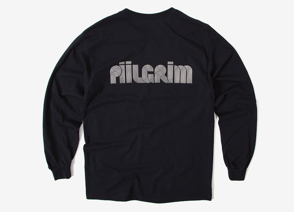 Piilgrim Structure Long Sleeve T Shirt - Black