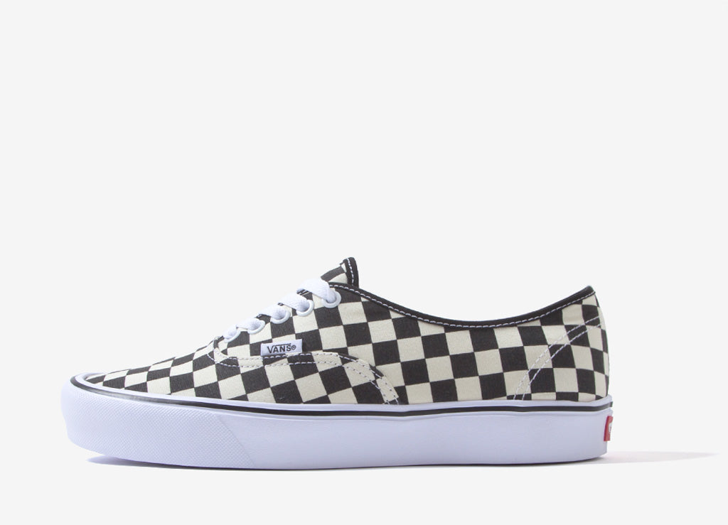 Vans Authentic Checkerboard Lite Shoes - Black/White