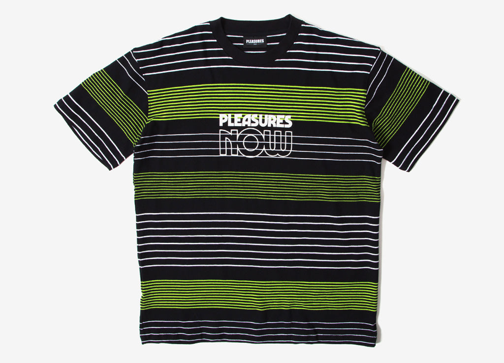 Pleasures Feedback Striped T Shirt - Black