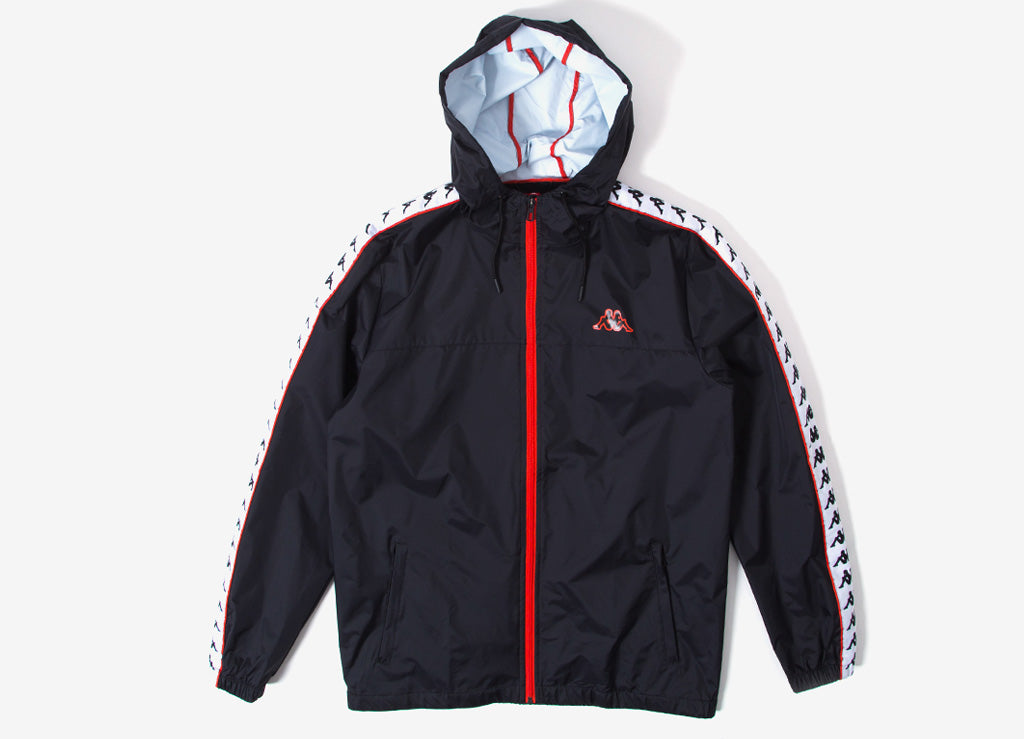Kappa Dawson 222 Banda Jacket - Black/White/Red/Orange