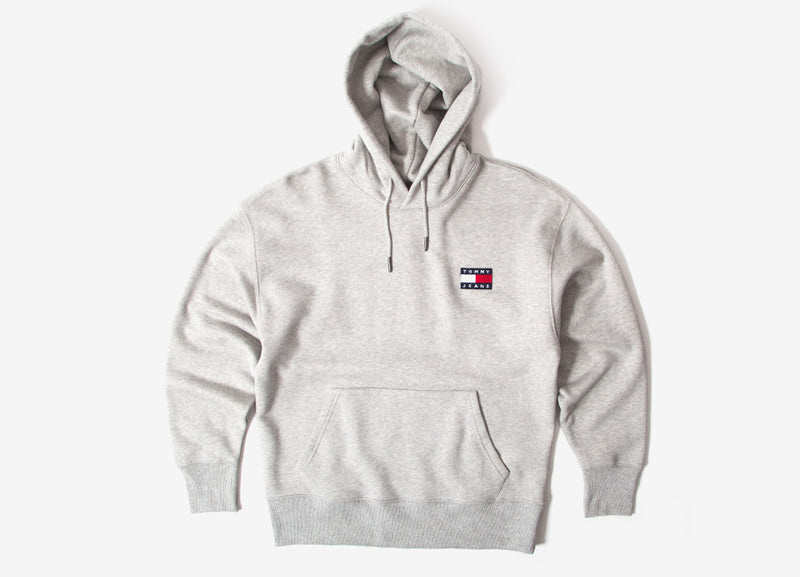 Tommy Jeans Badge Hoodie - Light Heather Grey