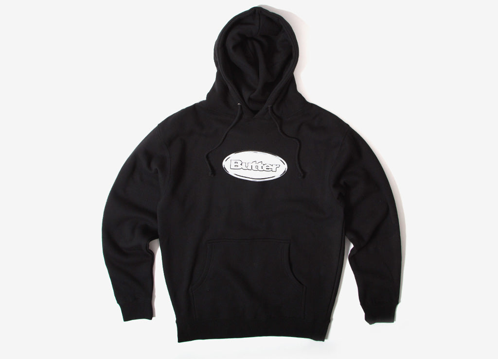 Butter Goods Chrome Badge Logo Pullover Hoody - Black