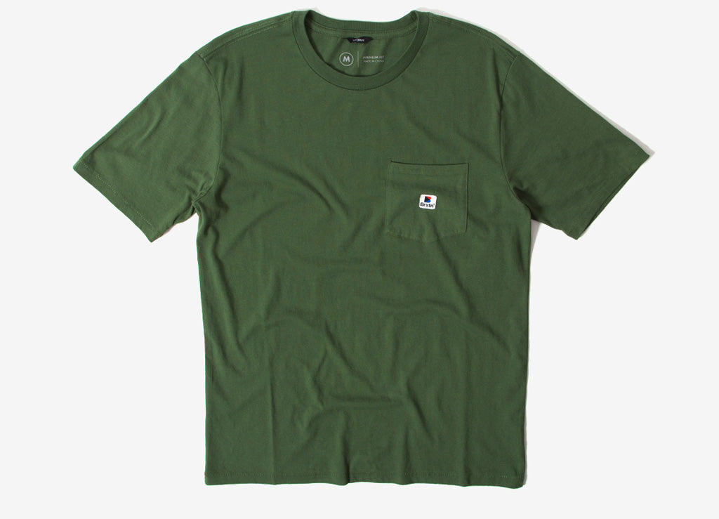 Brixton Stowell Pocket T Shirt - Leaf