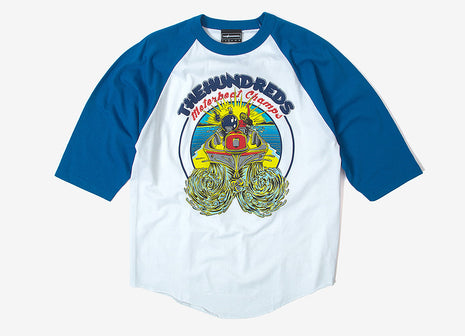 The Hundreds Motorboat Jersey T Shirt - Royal/White