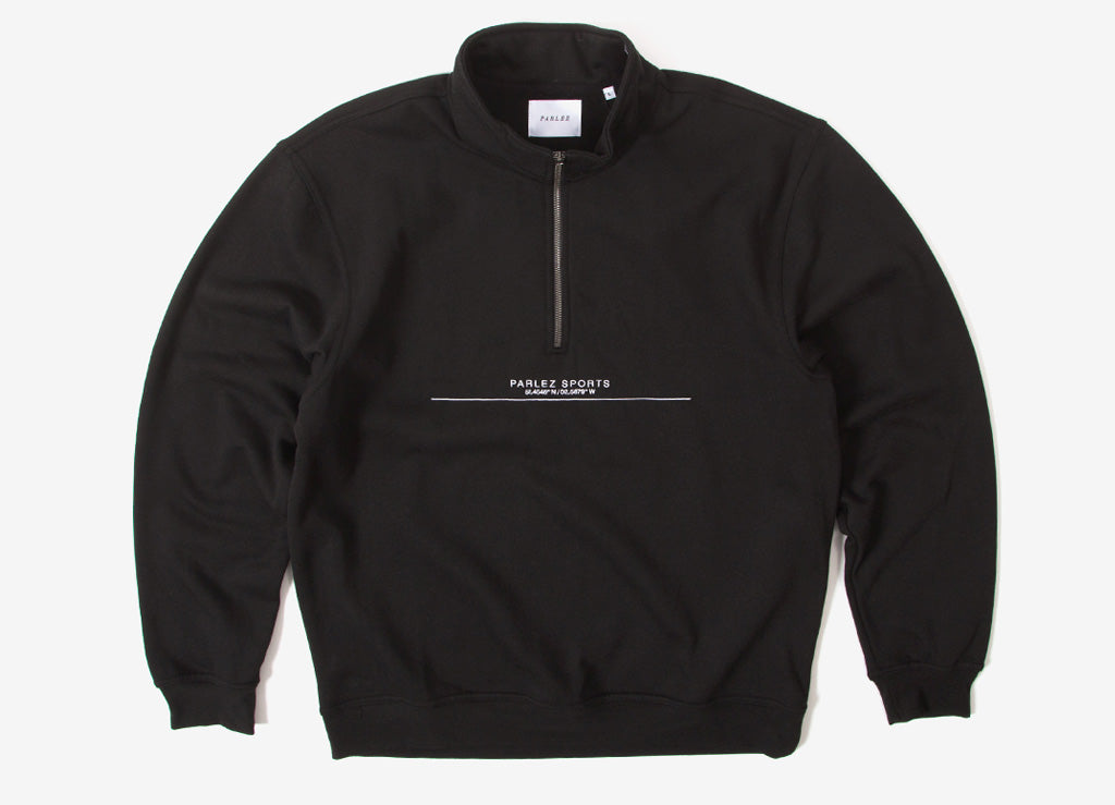 Parlez Bar 1/4 Zip Sweatshirt - Black