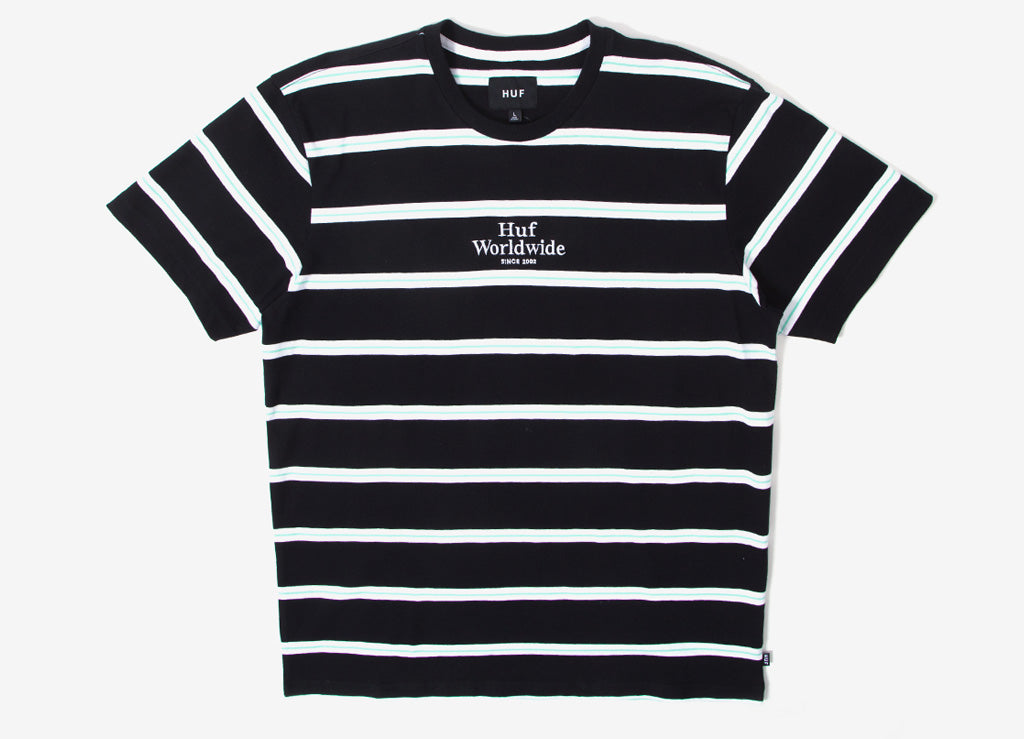 HUF Golden Gate Stripe T Shirt - Black