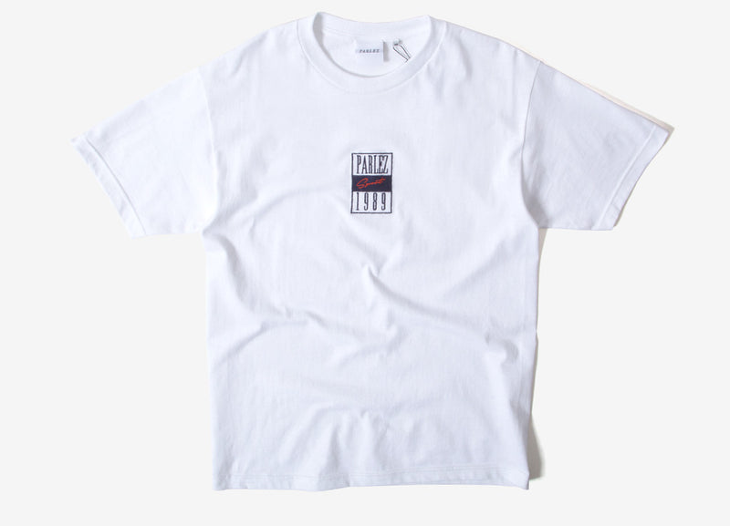 Parlez Edgar T Shirt - White/Navy
