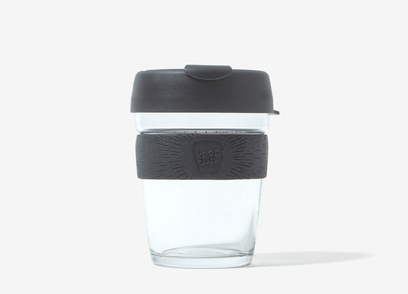 KeepCup Reusable Glass Coffee Cup - Black