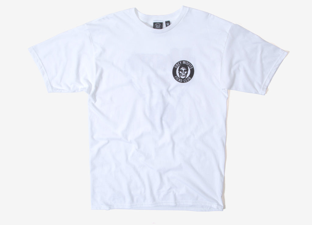 Obey x The Misfits Horror Biz Hands T Shirt - White