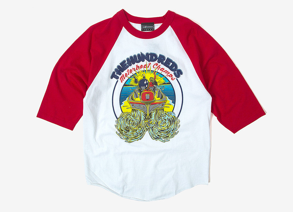 The Hundreds Motorboat Jersey T Shirt - Red/White