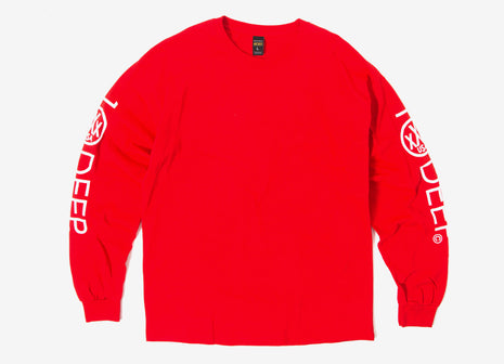 10Deep Integral Logo L/S T Shirt - Red