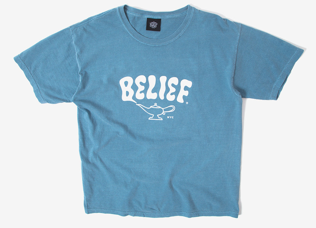 Belief Lamp T Shirt - Ice Blue