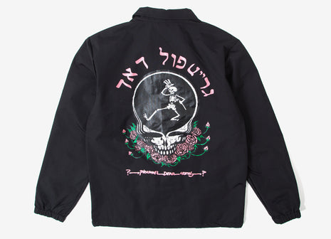Pleasures Grateful Dead Skull & Rose Coach Jacket - Black