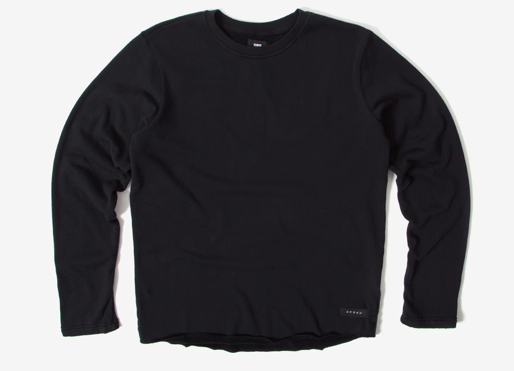 Edwin Terry TS Long Sleeve T Shirt - Black Garment Washed