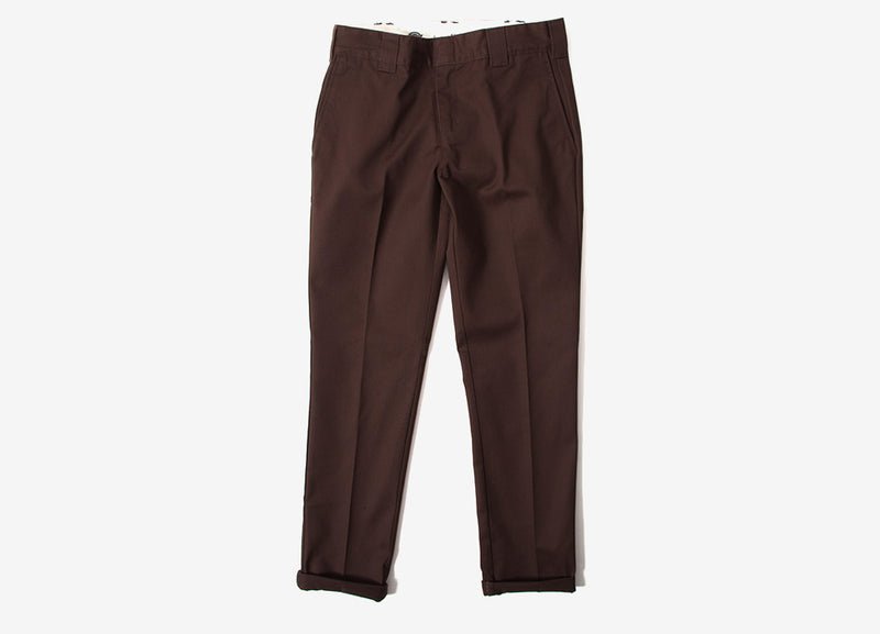 Dickies 872 Slim Fit Work Pant Trousers - Chocolate Brown