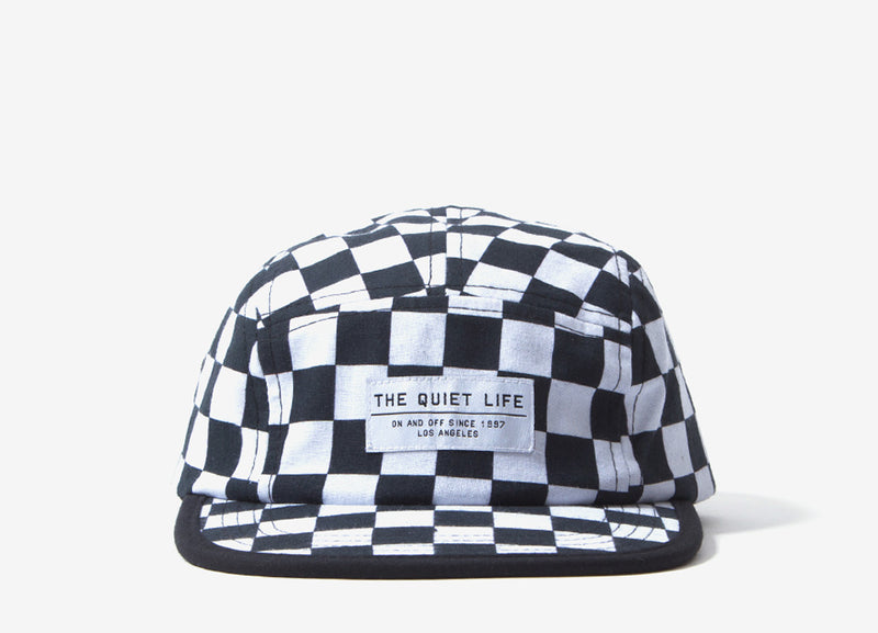 The Quiet Life Checker 5 Panel Camper Hat - Checkerboard