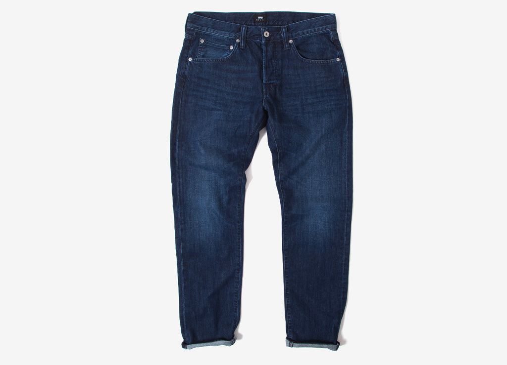 Edwin ED-55 Regular Tapered CS Kingston Blue Denim Jeans - Blue Mid Coal