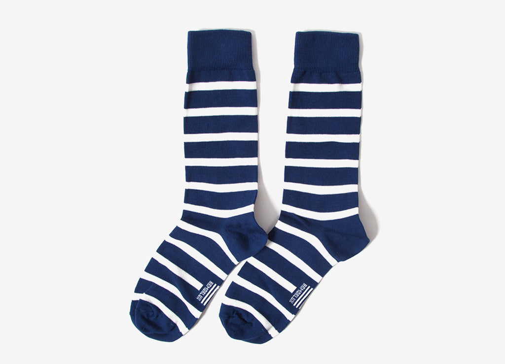 Armor Lux Striped Socks - Polo/Milk