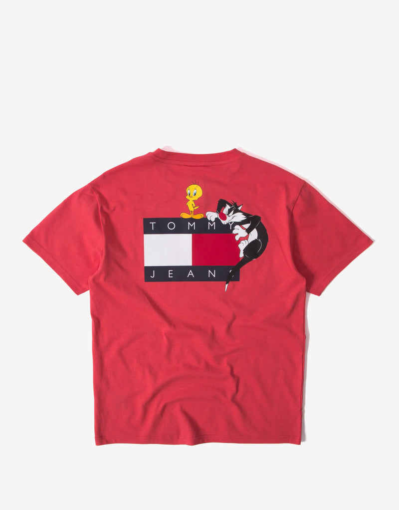 Tommy Jeans x Looney Tunes T Shirt - Red