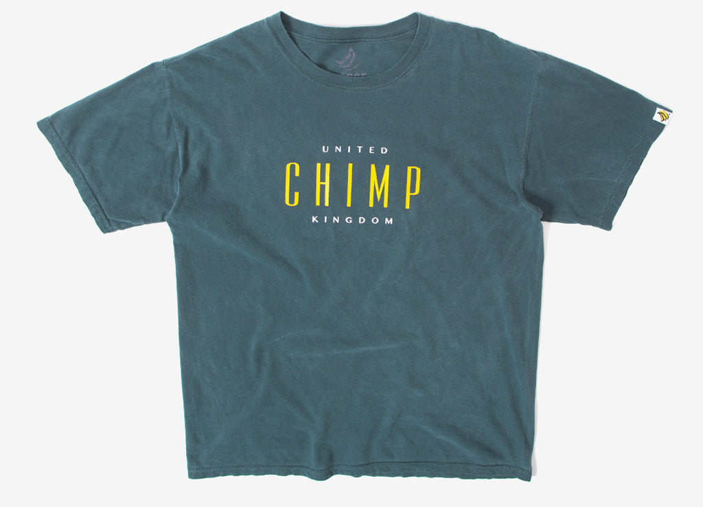 Chimp United Pigment Dyed T Shirt - Willow