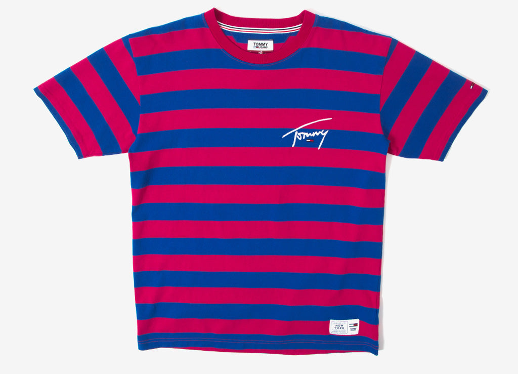 47182fea Tommy Jeans Signature Stripe T Shirt | Tommy Jeans Signature Collection |  The Chimp Store